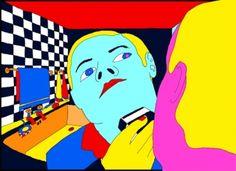 Pushwagner - The boss kunst til salgs i nettgalleriet Graphic Novel Art, Graphic Artwork, Banksy, Hare Krishna, Art Pop, Aliens, Art Inspo, My Drawings, Psychedelic