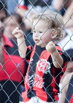Young football fan of Atletico Paranaense, Brazil.