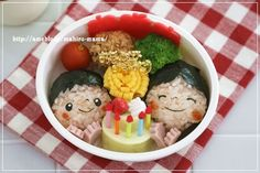 birthday bento. 『お誕生日のお弁当*キャラ弁』