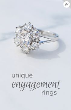 Explore sparkling engagement and bridal rings from JTV. Browse our selection of engagement rings to find bridal ring sets for every style, budget and bride. Dream Engagement Rings, Vintage Engagement Rings, Pretty Rings, Beautiful Rings, Wedding Jewelry, Wedding Rings, Bridal Rings, Ring Verlobung, Dream Ring