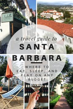 We're heading to the American Riviera for the weekend: It's time to pack up for Santa Barbara, California! Use this travel guide to find out where to eat, where to stay, and what to do on any budget when visiting beautiful Santa Barbara. - Use this Santa Barbara Travel Guide to discover what to do in Santa Barbara, where to eat in Santa Barbara, and where to stay in Santa Barbara.