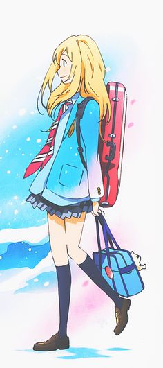 Shigatsu wa Kimi no Uso | Your Lie in April | Kawori Miyazono | Anime | Fanart | SailorMeowMeow Manga Girl, Anime Manga, Sad Anime, I Love Anime, Me Me Me Anime, Kawaii Anime, Yandere Anime, Anime Girls, Awesome Anime
