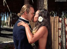 """-Before Teihotu's birth (their son), she said, he told her angrily that he would never allow a woman to tell him: """"I love you, Marlon.""""""""I promised him I wouldn't and it took me until he was 78 to break the promise,"""" she said. Marlon Brando, Tahiti Nui, Mutiny On The Bounty, Whatsapp Profile Picture, The Searchers, Human Poses, Film Movie, Movies, Romantic Couples"""