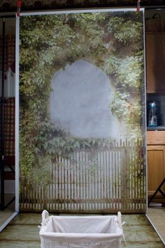Pull back of our garden archway photography backdrop at @PhotoPropFloors Backdrops
