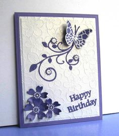 SC501 Flutterby Birthday by catluvr2 - Cards and Paper Crafts at Splitcoaststampers