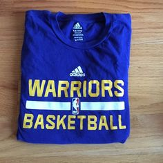 Golden State Warriors Basketball T-Shirt Kids L fits like a Women's XS-S, nice stretchy material, only worn 1-2 times. Perfect condition-no tears, rips, or stains. Adidas Tops Tees - Short Sleeve