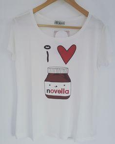 I Love NOVELLA! Ou seria NUTELLA rs Fashion e descoladas ás t-shirts da marca Sly Wear é de se apaixonar.Corre para nossa loja online menina e compre a sua !