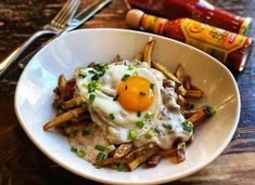 Check out the Breakfast Poutine at - thanks for tagging // Brunch Chicago, Poutine, Brunch Ideas, Types Of Food, Magazine, Breakfast, Ethnic Recipes, Check, Instagram