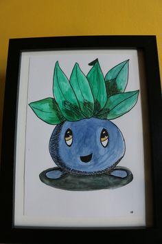 Pokémon Illustration aquarelle et feutre, exemplaire unique au choix de la boutique SwordandStar sur Etsy