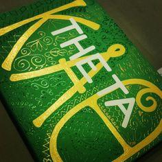 12x 16 Kappa Alpha Theta Skribble Sketch by CanvasesByJB on Etsy, $22.00