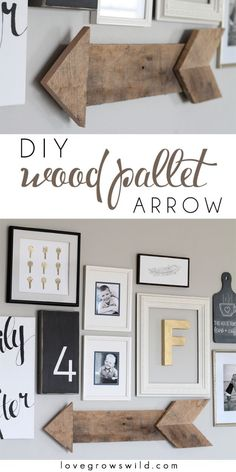 35 Wall Art Ideas for the Bedroom - DIY Wood Pallet Arrow - Rustic Decorating Projects For Bedroom, Brilliant Wall Art Projects, Creative Wall Art, Do It Yourself Crafts, Easy Wall Art, Bedroom Decor on a Budget, Bedroom http://diyjoy.com/wall-art-ideas-bedroom