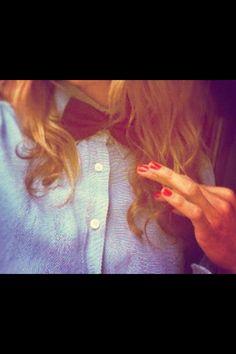 le noeud papillon pour fille !