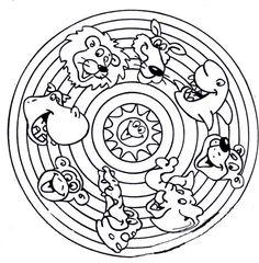 Animals Mandala Coloring Pages