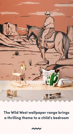 If your budding cowboy or cowgirl needs a fun bedroom or playroom refresh, explore this unique collection of Cowboy Wallpaper.