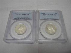 PCGS PR69DCAM Washington Quarters 1994-S, 1995-S - EBay price $18.99 (sale price) + free shipping