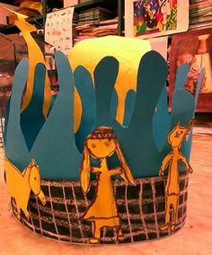 Build a fountain // Paper // Elementary art grade 1 // Pots de peinture