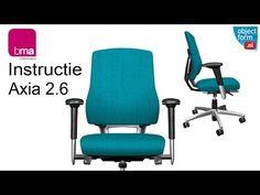 Stoelinstructie bureaustoel BMA Ergonomics Axia 2.6 - Objectform -YouTube