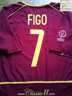 Relive Luis Figo's 2002 World Cup with this vintage Nike Portugal home football shirt.