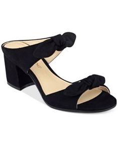 Ivanka Trump Eria Block-Heel Slide Sandals - Black 6.5M #Sandalswomen