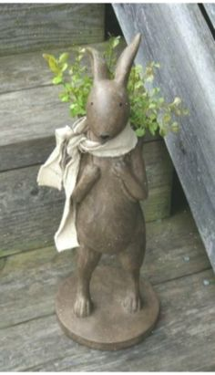 Brown-Peddler-Bunny-Rabbit-STATUE-Primitive-French-Country-Urban-Farmhouse-Decor… #farmhousedecorbathroom #BrownPeddlerBunnyRabbitSTATUEPrimitiveFrenchCountryUrbanFarmhouseDecor #farmhousedecorbathroomfrenchcountry Urban Farmhouse, Farmhouse Decor, Bunny Rabbit, French Country, Primitive, Garden Sculpture, Statue, Bathroom, Brown