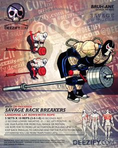 back exercise: landmine rows with rope - bane