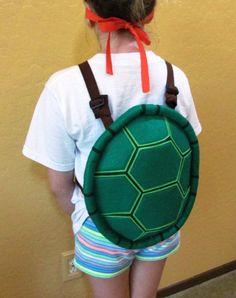easy ninja turtle costume kid stuff pinterest. Black Bedroom Furniture Sets. Home Design Ideas