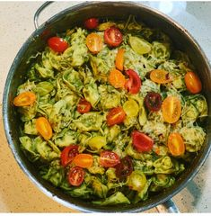 Pesto Alfredo Tortellini Pasta Tortellini Pasta, The Dish, Paella, Pesto, Curry, Fresh, Dishes, Spring, Link