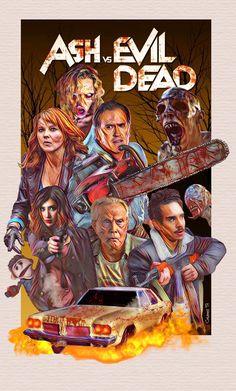 Ash Versus Evil Dead, Ash Evil Dead, Evil Dead Trilogy, Evil Dead Movies, Bruce Campbell Evil Dead, Hammer Horror Films, Supernatural Wallpaper, Punisher Marvel, Horror Artwork