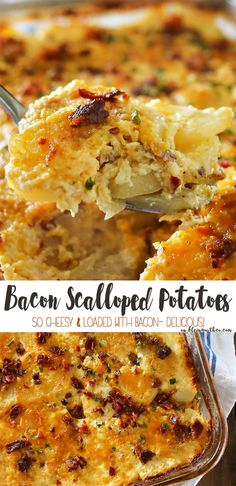 Bacon Scalloped Potatoes Recipe, an easy side dish recipe that's also the…