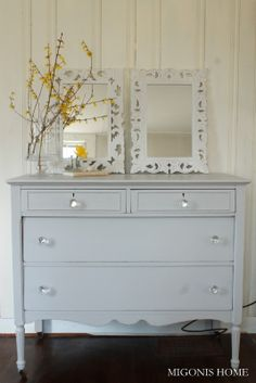 Stonington Gray Dresser - Blog with beautiful redo's. For inspiration