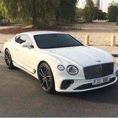 Ideas Luxury Cars White Bentley Continental For 2019 Maserati, Bugatti, Lamborghini, Ferrari, Audi, Bmw, Porsche, Bentley Continental Gt, Bentley Auto
