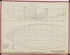 PLAN DE COQUE - Canot de peche 6,25 m (1971)