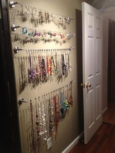 26 Ideas for diy jewelry organizer wall necklace organization master closet