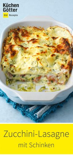 Zucchini-Schinken-Lasagne Simple recipe for a delicious zucchini ham lasagna. Ground Beef Recipes Easy, Easy Healthy Recipes, Quick Easy Meals, Snack Recipes, Smoothie Recipes, Lasagna Recipe With Ricotta, Easy Lasagna Recipe, Lasagna Zucchini, Easy Snacks