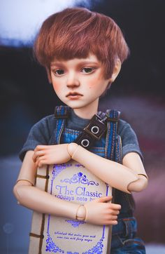 """Luis-kun by Bella Chao Via Flickr: in less than 10 years, I finally learned how to make wigs :3 My little Louis with me for 5 years, but there is not a single photo of him (what a shame, cuz he's a special boy - the only one msd doll in my crew). I was """"lucky"""" to change and remake his wig about 5-6 times. i really hope this one is final version.."""