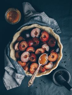 Plum Pie with Honey and Black Pepper: an almost Vegan Recipe by Kati of black.white.vivid.