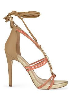 MISS KG Geranium woven heeled sandals