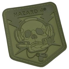 professional special forces expert patches military | Hazard 4 3D Operator Skull Morale Patch OD Green Preview