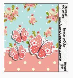 Pájaros y Mariposas: Etiquetas para Candy Bar para Imprimir Gratis.