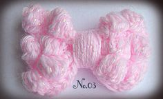 Items similar to Baby Pale Pink sparkle crochet bow / knit bow, alligator hair clips. Many colour options. on Etsy Crochet Bows, Crochet Accessories, Make And Sell, Pale Pink, Hair Clips, Crochet Necklace, Sparkle, Colour, Knitting