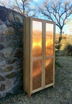 Douglas fir Copper Cabinet BearFoot Carpentry bearfootcarpentry.blogspot.com