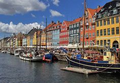 The Capital of Denmark, beautiful Copenhagen is the country's largest city and second largest in Scandinavia. It has a metropolitan area population of 2 million inhabitants Wonderful Places, Great Places, Beautiful Places, Amazing Places, The Places Youll Go, Places To See, Capital Of Denmark, Places To Travel, Travel Destinations