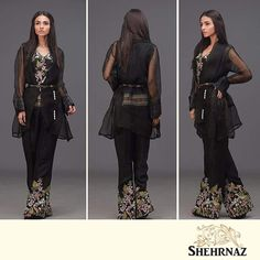 Embroidered top and pants paired with an organza wrap. Celebrate Eid in style with #SHEHRNAZ.  Ensemble Dubai on 1st September. Ensemble Lahore and Islamabad 2nd September Ensemble One, Dolmen Mall 3rd September  #ShopNow #EnsembleDubai #EidWithShehrnaz #Eid2016 #EidCollection #EidulAzha #EidInDubai #Ensemble