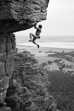 Well, I would call that EXTREME mountain climbing! Or did Photoshop help him out? Mountain Climbing, Rock Climbing, Technique Photo, Photo Vintage, Mountaineering, Adventure Is Out There, Rafting, Bouldering, The Great Outdoors