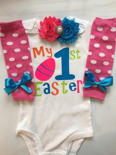INFANT Baby Girl Easter Outfit  Spring time outfit by AboutASprout