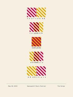 tunes yard yellow and pink poster - Google Search