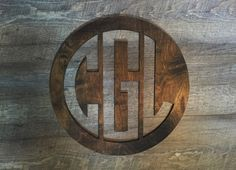 Monogrammed Rustic Stained Circle Wall Decor.        My intials again!!!