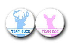 Gender Reveal Party Favor Buck and Doe Baby Shower inch pinback buttons, pins, badges Team Buttons Pins Badges Country Gender Reveal, Baby Shower Gender Reveal, Baby Gender, Baby Shower Themes, Shower Ideas, Baby Shower Badge, Confetti Gender Reveal, Gender Announcements, Gender Party