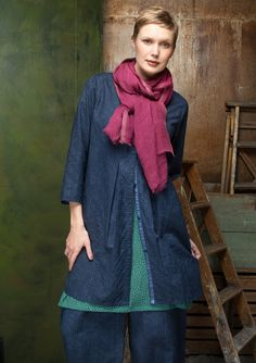 """""""Sigrid"""" tunic in linen/cotton – Blouses & waistcoats – GUDRUN SJÖDÉN – Webshop, mail order and boutiques   Colorful clothes and home textiles in natural materials."""