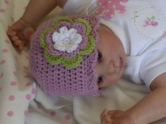 Baby Crochet Hat Pattern  Easy Peasy Shell Trim por bubnutPatterns